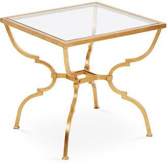 One Kings Lane Quatrefoil Side Table - Antiqued Gold