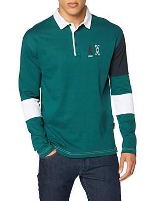 Armani Exchange Men's College Polo Style Shirt,Large