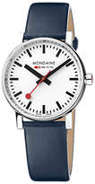 Mondaine Unisex Evo 2 Leather Strap Watch