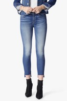 7 For All Mankind The Ankle Skinny With Step Hem In Distressed Authentic Light