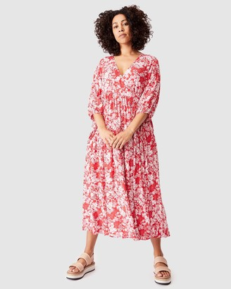 Ceres Life - Women's Red Maxi dresses - Picnic Wrap Dress - Size S/M at The Iconic