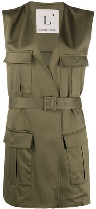 L'Autre Chose Sleeveless Military Jacket