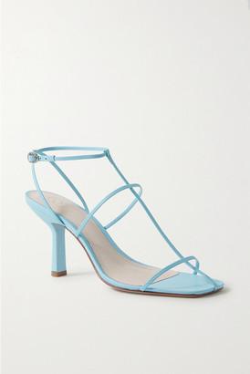 PORTE & PAIRE Leather Sandals - Sky blue