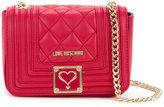 Love Moschino logo embossed crossbody bag - women - Polyurethane - One Size