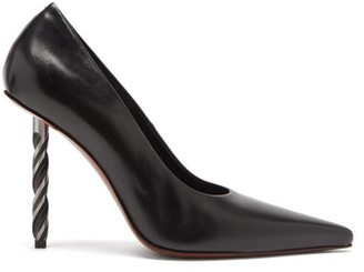 Vetements Drill-bit Point-toe Leather Pumps - Black