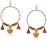 Chan Luu Tassel Hoop Earrings