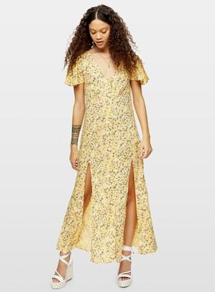 Miss Selfridge PETITE Yellow Lucy Button Down Maxi Dress