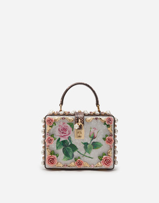 Dolce & Gabbana Mother-Of-Pearl Dolce Box Bag With Jewel Embroidery
