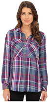 KUT from the Kloth Nora Cargo Pocket Plaid Blouse