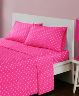 Jla Home Mi Zone Polka Dot 4-pc Queen Cotton Sheet Set Bedding