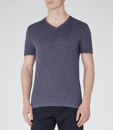 Dayton Marl V-neck T-shirt Denim Marl