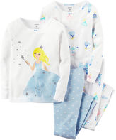 Carter's 4-pc. Long-Sleeve Cotton Pajama Set - Baby Girls newborn-24m