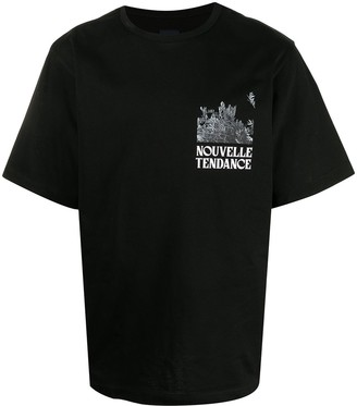 Juun.J Nouvelle Tendance-print cotton T-shirt