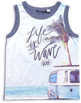 Preview Life Is a Wave Graphic Sleeveless Tank Top