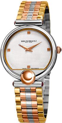 Bruno Magli 34mm Miranda 1022 Bracelet Watch, Rose/Steel