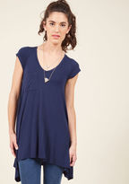 ModCloth A Crush on Casual Tunic in Navy in M