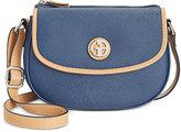 Giani Bernini Saffiano Top-Zip Mini Saddle Bag, Only at Macy's