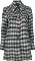 Love Moschino vichy single breasted coat - women - Polyamide/Viscose/Wool/other fibers - 38