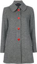 Love Moschino vichy single breasted coat - women - Polyamide/Viscose/Wool/other fibers - 42