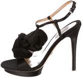 Badgley Mischka Satin Platform Sandals
