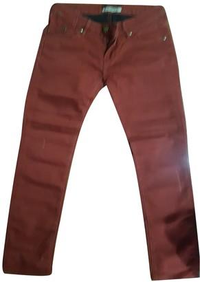 Maison Scotch Burgundy Cotton - elasthane Jeans for Women