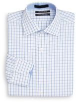 Saks Fifth Avenue Slim-Fit Grid Check Cotton Dress Shirt