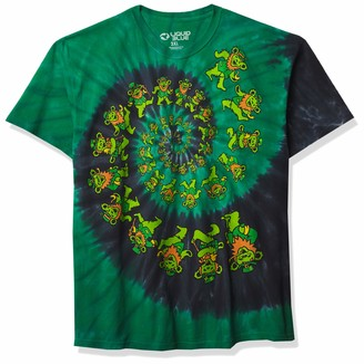 Liquid Blue Grateful Dead Irish Spiral Bears St. Patricks Tie Dye T-Shirt