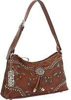 American West Lady Lace Zip-Top Shoulder Bag,