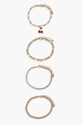 boohoo Cherry Bracelet Pack