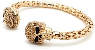 Eye Candy Los Angeles Skull My Wrist Pave Crystal Cuff