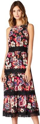 Amazon Brand - TRUTH & FABLE Women's Midi Floral Boho Dress