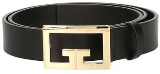 Givenchy 2G gold leather belt