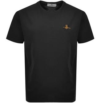 Vivienne Westwood Orb Logo Oversized T Shirt Black