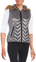 Calvin Klein Faux Fur-Trimmed Quilted Vest