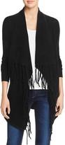 Aqua Cashmere Fringe Drape Front Cashmere Cardigan - 100% Exclusive