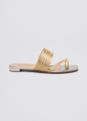 Aquazzura Sunny Flat Slide Sandals