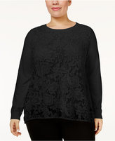 INC International Concepts Plus Size Lace Top, Only at Macy's