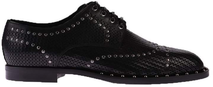 Dolce & Gabbana Black Metal Studs Shoes
