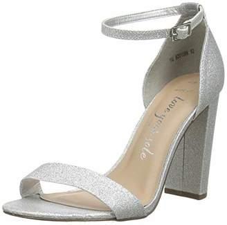 New Look Women's WF TARONA 4 IC-GLTR BLK HL 97:92:S205 Open Toe Heels, Silver (Silver 92), (38 EU)