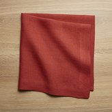 Crate & Barrel Helena Chili Red Linen Dinner Napkin