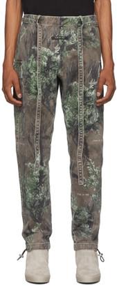 Fear Of God Brown and Green Jiujitsu Cargo Pants