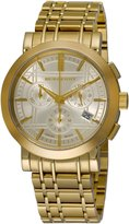 Burberry Men's BU1757 Heritage Gold-Plated Stainless Steel Gold Chronograph Dial Watch