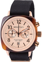 Briston 14140.PRA.T.6.NB clubmaster classic acetate and canvas chronograph watch
