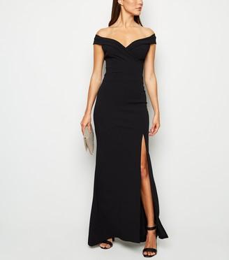 New Look Missfiga Bardot Side Split Maxi Dress