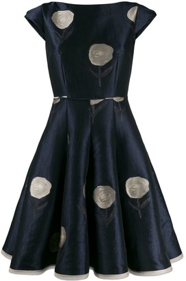 Talbot Runhof Bonitou flared dress