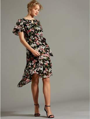 M&Co Floral layered dobby dress