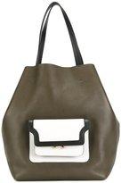 Marni trunk pocket shopper tote - women - Calf Leather - One Size