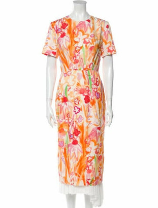 Marni Printed Long Dress w/ Tags Orange