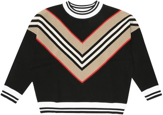 BURBERRY KIDS Icon Stripe wool-blend sweater