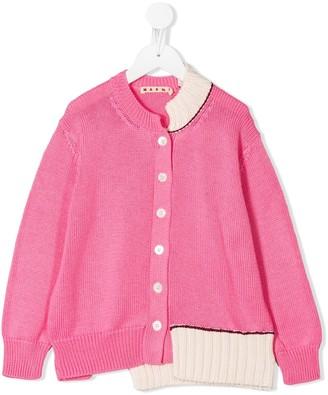 Marni Asymmetric Button-Up Cardigan